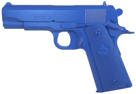 Blue Handgun Black And Blue Real Gu...