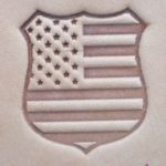 Police Shield Badge - American Flag