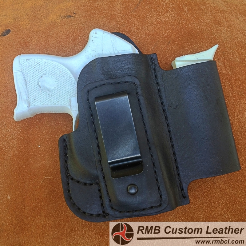 Leather IWB Holster With Magazine Pouch HOLSTER40 RMB Custom Mesmerizing Holster With Magazine Holder