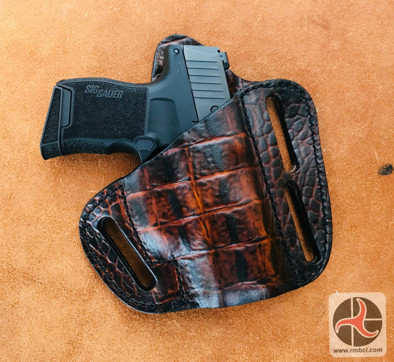 Leather Pancake Style Gun Holster Sig P365 (HOLSTER55) – RMB Custom