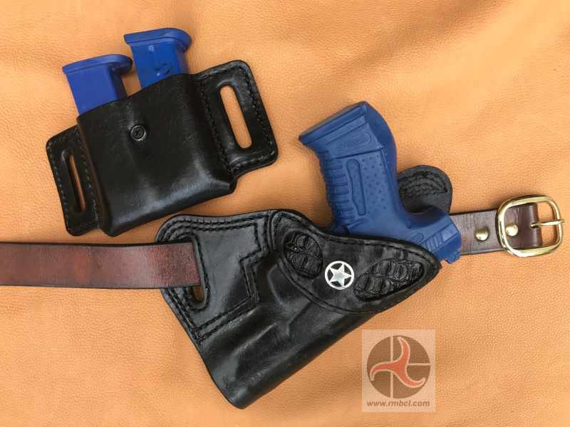 Custom Leather Holster – Small Of Back Carry – Cobra Skin