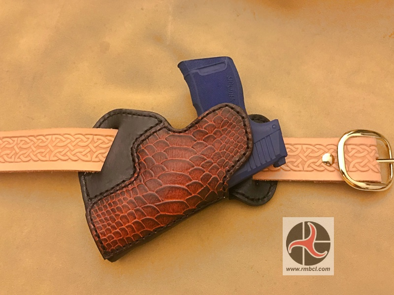 Small of Back (SOB) Holster w/Embossed Outlay – RMB Custom Leather