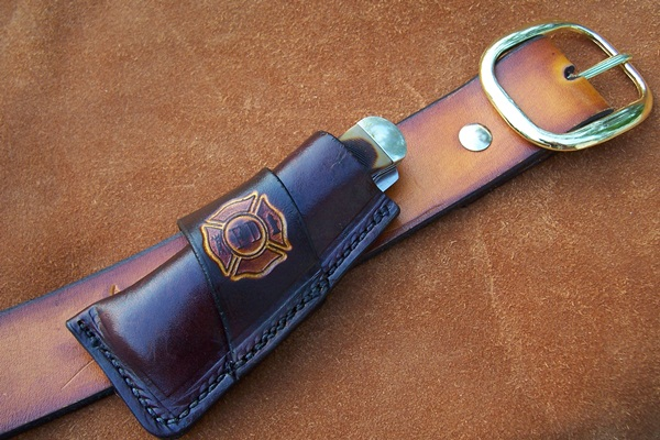Belt knife sheaths