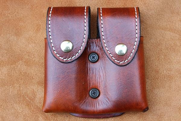 Double Magazine And Handcuff Holder Custom Leather Double Magazine Pouch RMB Custom Leather 40