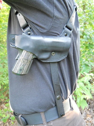 Custom Leather Shoulder Holster Amp Mag Pouch Horizontal